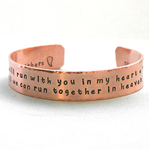 Personalized Dog Agility Remembrance Cuff Bracelet