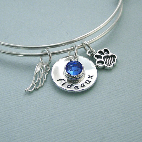 Personalized Remembrance Expandable Bangle Bracelet