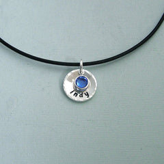 Personalized Remembrance Necklace - Sterling Silver and Swarovski Crystal