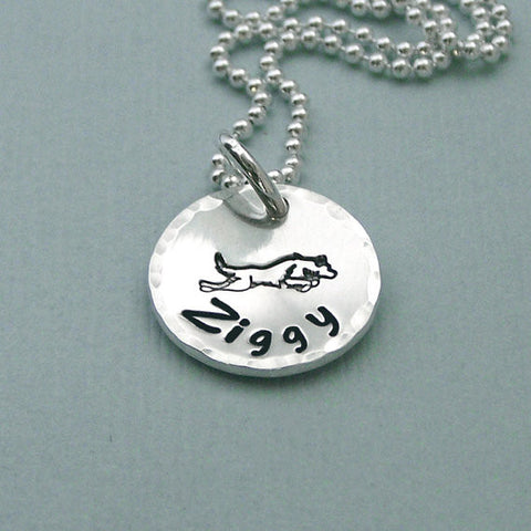 Personalized Border Collie Necklace
