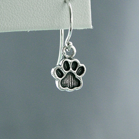 Little Paw Print Sterling Silver Earrings