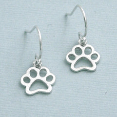 Little Open Paw Sterling Silver Earrings