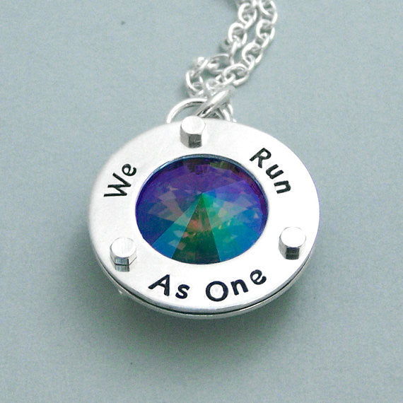 We Run As One - Sterling Silver and Swarovski Crystal Necklace