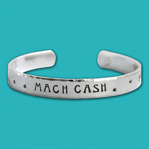 Personalized Sterling Silver MACH Cuff Bracelet