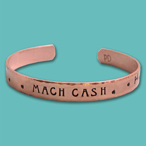 Personalized Copper MACH Cuff Bracelet