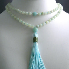 New Jade Hand Knotted Petite 108 Mala
