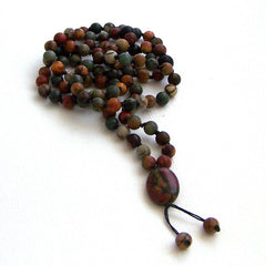Red Creek Jasper Hand Knotted Petite 108 Mala