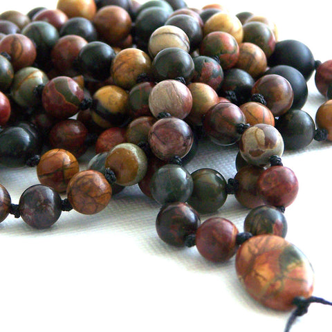 Red Creek Jasper Hand Knotted 108 Mala