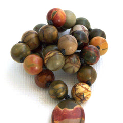 Red Creek Jasper Hand Knotted Quarter Mala