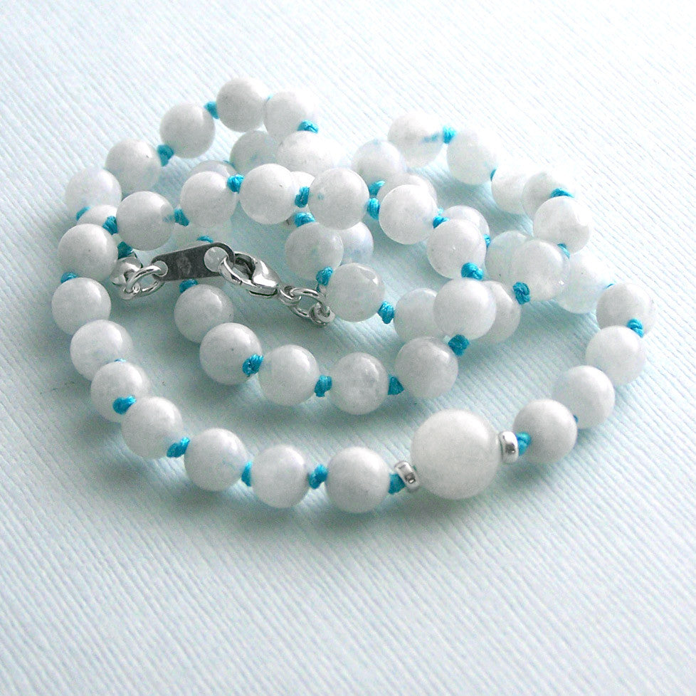 Moonstone Mala Style Necklace