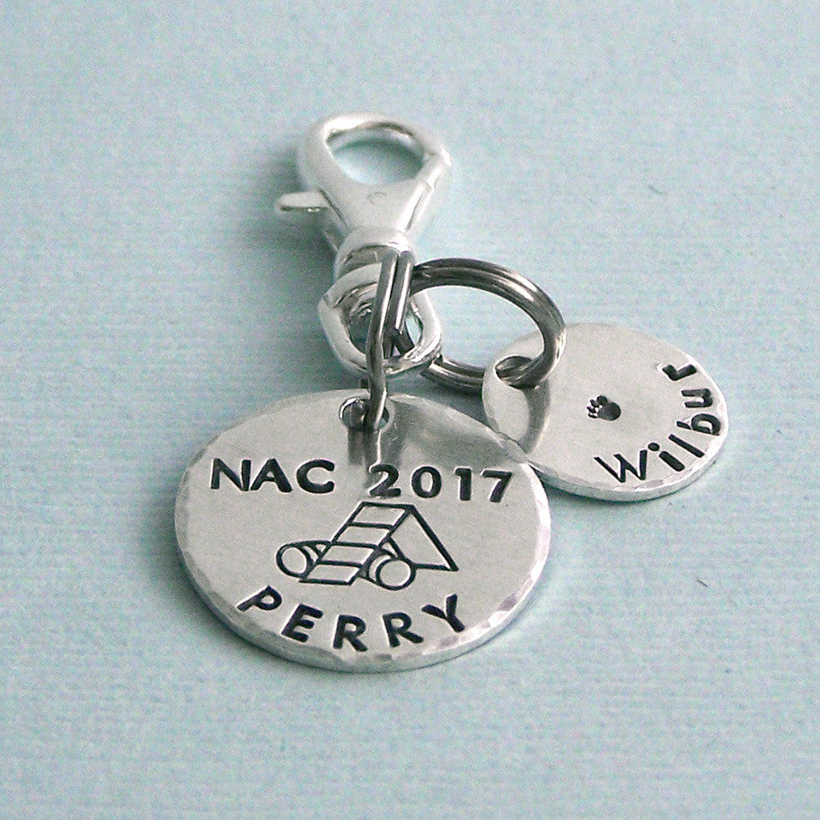 2017 AKC National Championship Sterling Silver Charms or Crate Tag with Name Tag