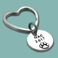 2017 AKC National Championship Pewter Key Ring or Crate Tag