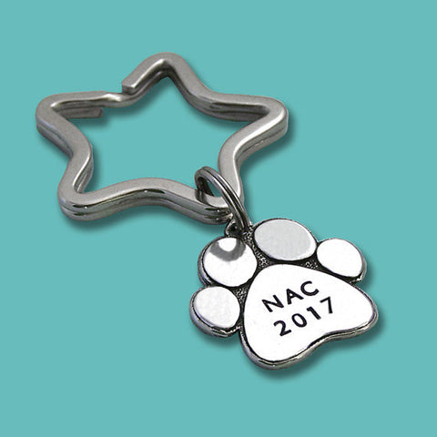 2017 AKC National Championship Pewter Paw Key Ring or Crate Tag
