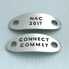2017 AKC National Championship Shoe Tags - Hand Stamped Pewter - NAC 2017 - NOC 2017 - NRC 2017