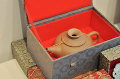 Collectible Zisha teapot in silk box