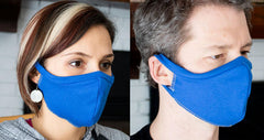 Elastic free t-shirt face mask