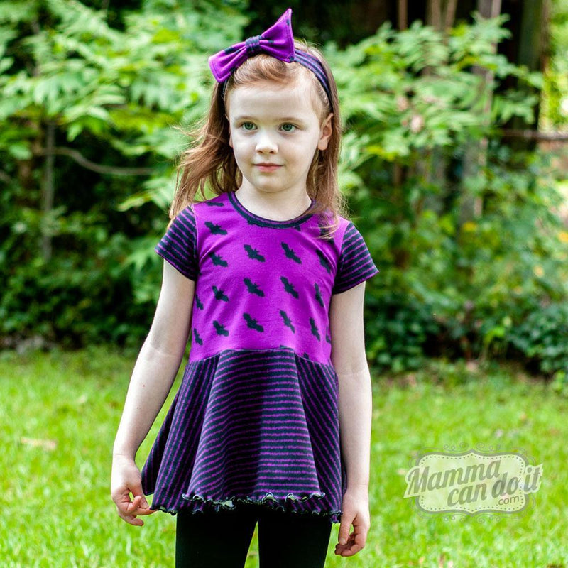 MammaCanDoIt Sewing Pattern Relaxed Peplum | Girl Sizes 2T-16