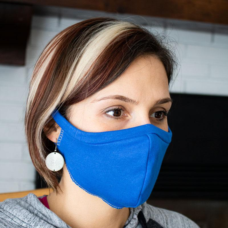 MammaCanDoIt Sewing Pattern Elastic Free T-shirt Face Mask |  Sewing Pattern
