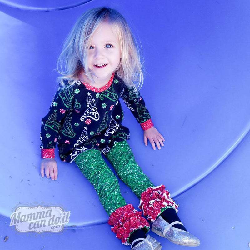 MammaCanDoIt Sewing Pattern Rosie's Ruffled Leggings | Size 3T-16