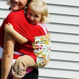 Mom and baby wearing sling wrap