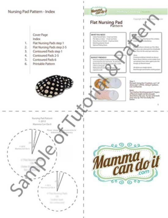 MammaCanDoIt Sewing Pattern Easy Nursing Pad Sewing Pattern