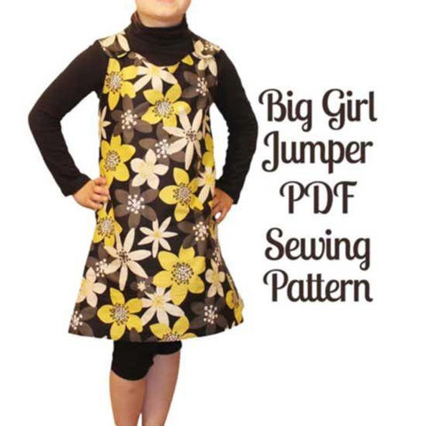 Reversible Big Girl Jumper Pattern - MammaCanDoIt - Sewing Pattern - 1