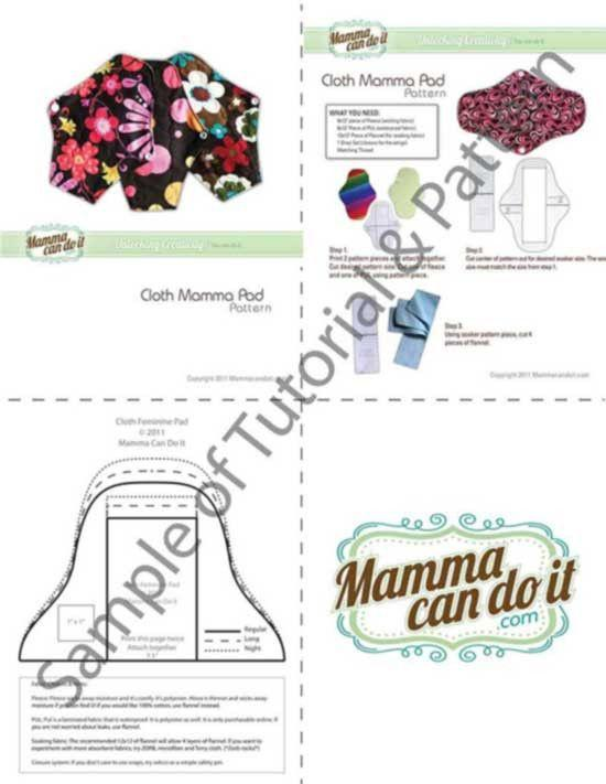 MammaCanDoIt Sewing Pattern Reusable Cloth Pad Pattern