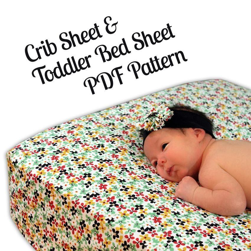 crib toddler bed sheet sewing pattern mammacandoit. Black Bedroom Furniture Sets. Home Design Ideas