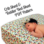 Crib & Toddler Bed Sheet Pattern - MammaCanDoIt - Sewing Pattern - 3