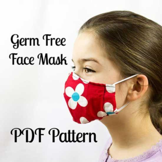 MammaCanDoIt Sewing Pattern Germ Free Face Mask |  Sewing Pattern