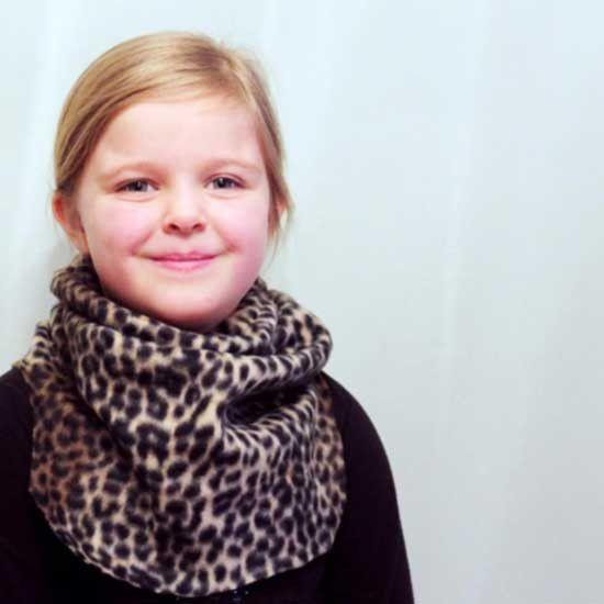 Neck Warmer Sewing Pattern leopard print