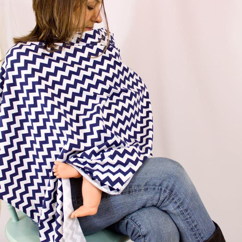 Nursing Shawl Sewing Pattern chevron