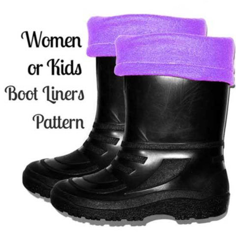 women or kids Boot Liner Sewing Pattern