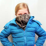 Little girl in home made neck warmer