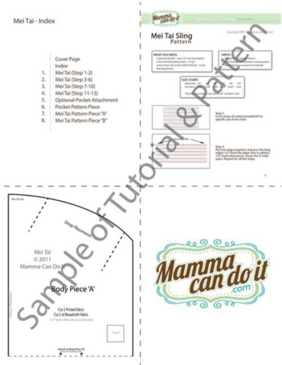 MammaCanDoIt Sewing Pattern The Best Mei Tai Baby Carrier Sewing Pattern