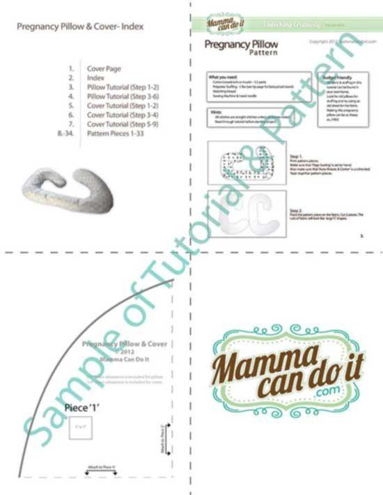 Pregnancy Pillow Pattern - MammaCanDoIt - Sewing Pattern - 8