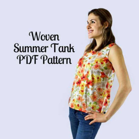 Woven Simple Tank Pattern - MammaCanDoIt - Sewing Pattern - 1