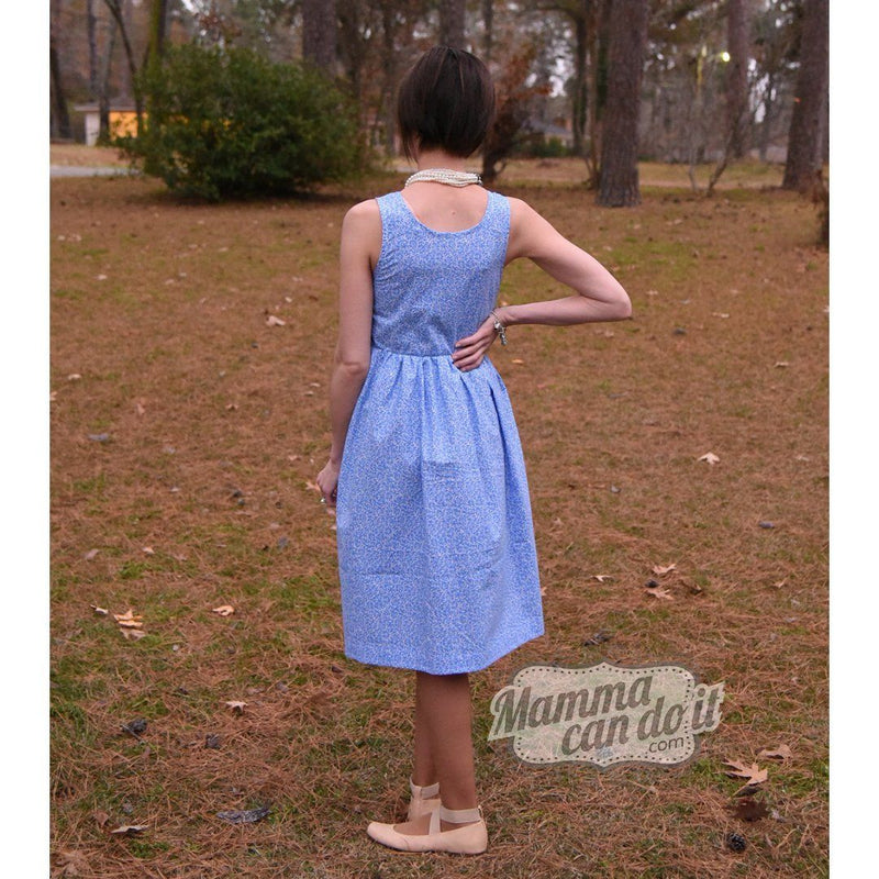 MammaCanDoIt Sewing Pattern Ladies Full Skirt Dress Sewing Pattern