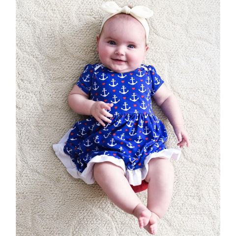 Onesie Dress Sewing Pattern | NB-24 Months