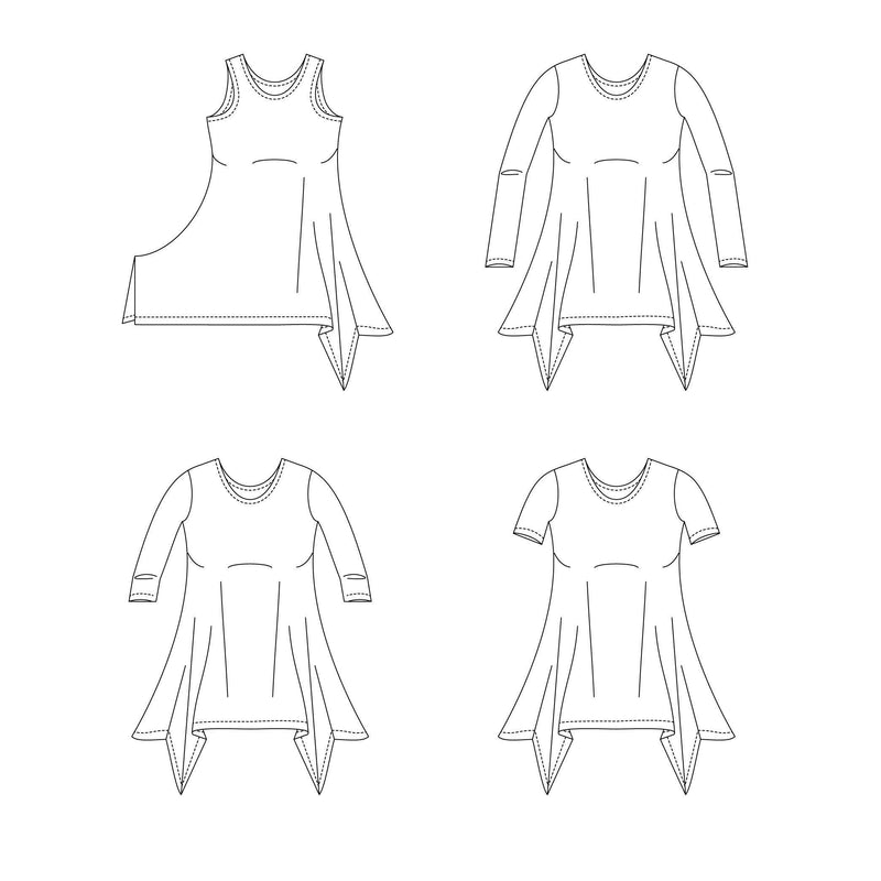 MammaCanDoIt Sewing Pattern Priscilla Handkerchief Top | Women Plus 14w-40w
