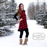 women winter dress pattern
