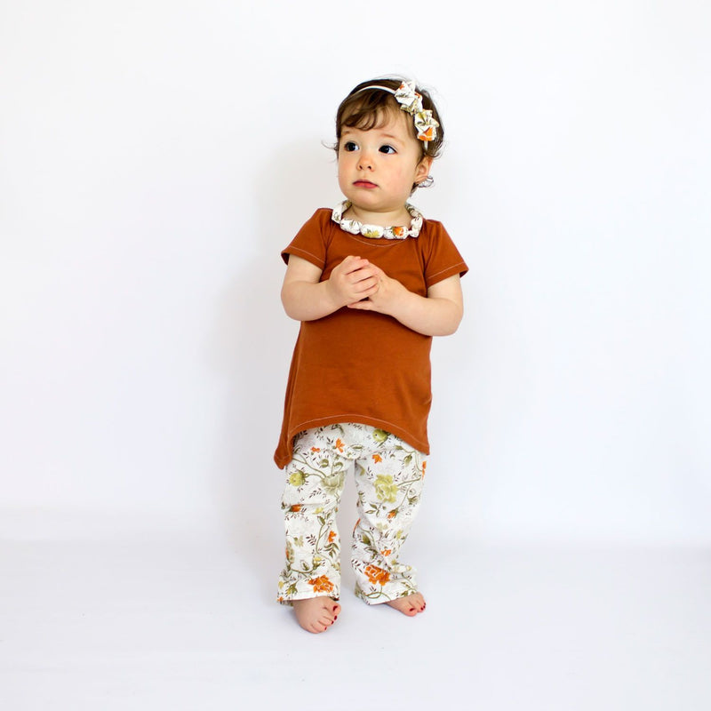 Flowery Baby Bell Bottom pants sewing pattern