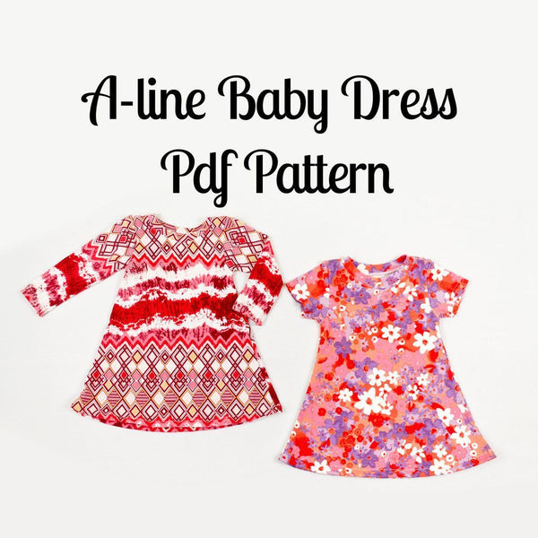Baby Dress Sewing Pattern PDF