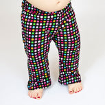 modeled baby pants from sewing pattern