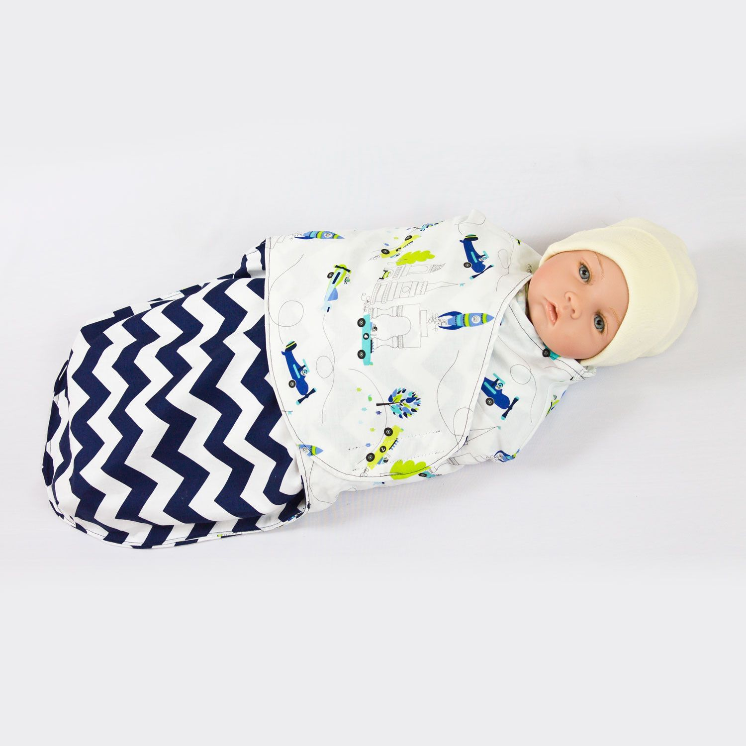 boy swaddle blanket pattern
