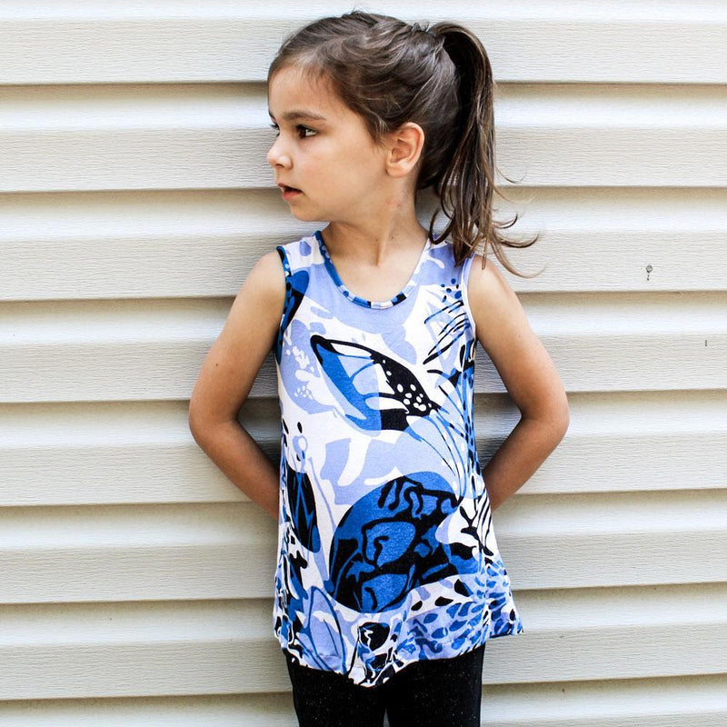 MammaCanDoIt Sewing Pattern Sunflower Tank | Girl Sizes 2T-20
