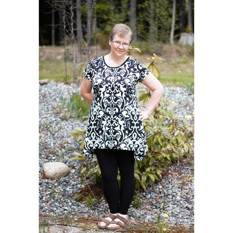 MammaCanDoIt Sewing Pattern Priscilla Handkerchief Top | Women Sizes 00-20