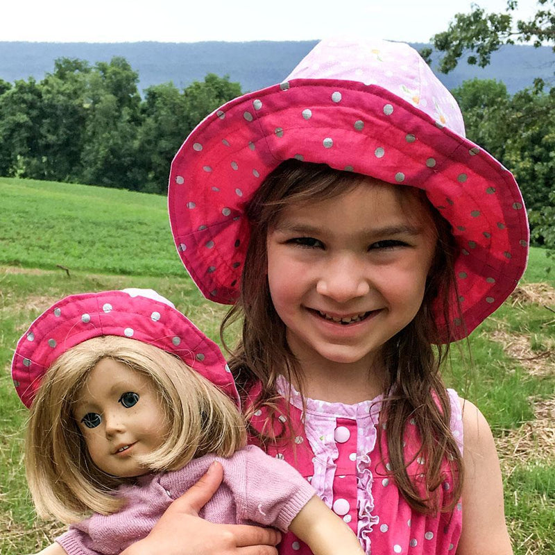 MammaCanDoIt Sewing Pattern Liberty Doll Sun Hat Pattern | 2 Doll Sizes