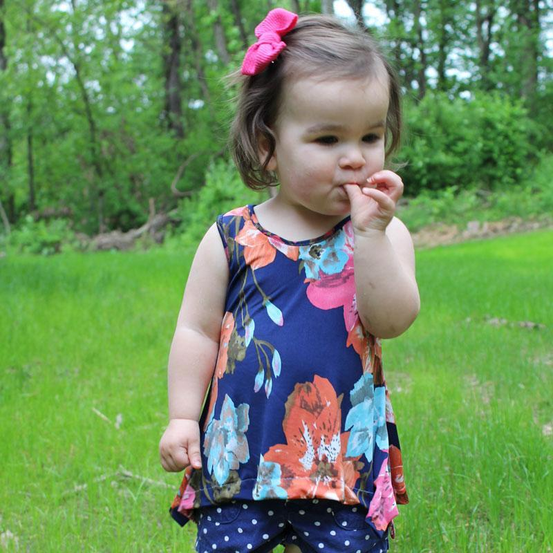 MammaCanDoIt Sewing Pattern Priscilla Handkerchief Top | Nb-36 months