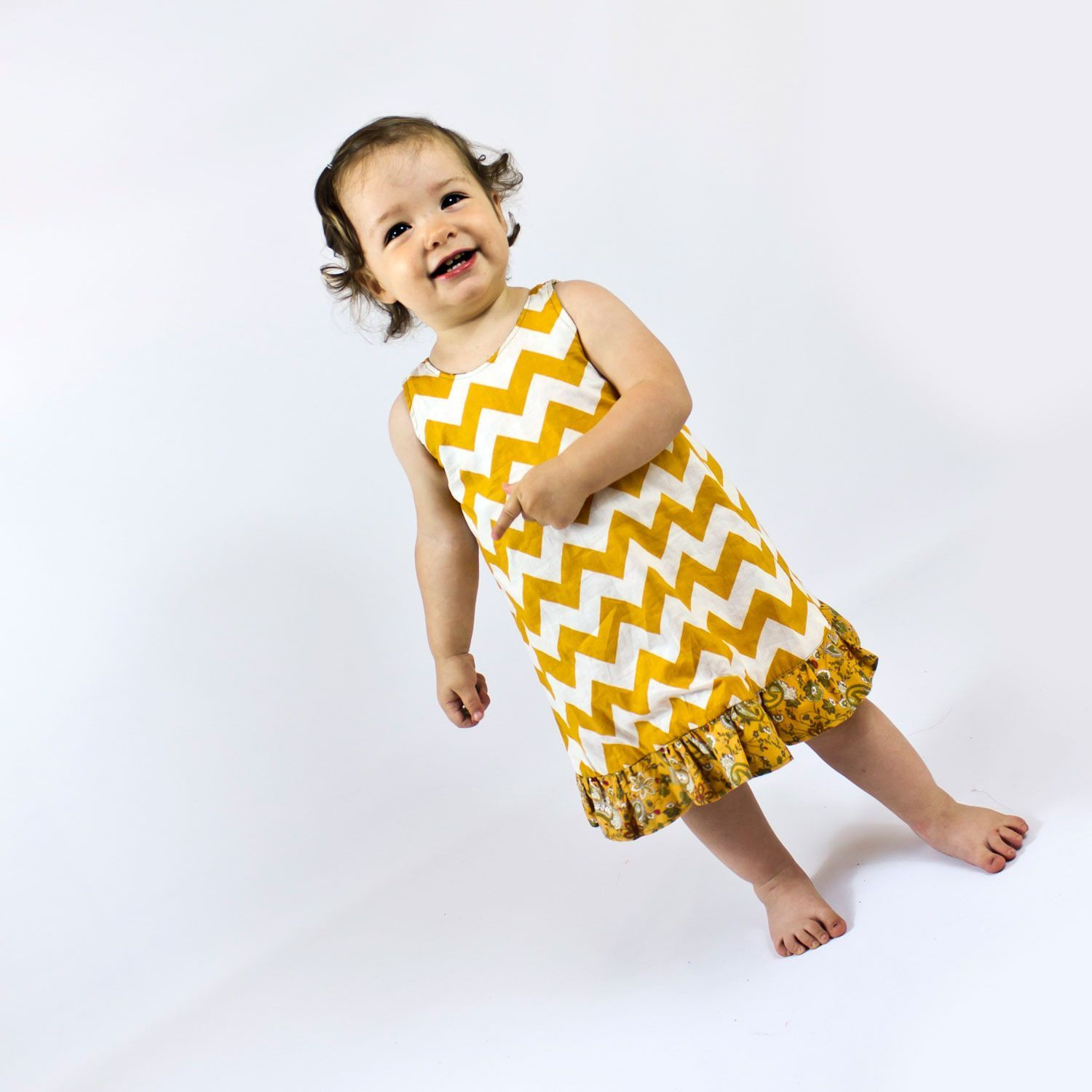 Pinafore with ruffled nappy cover